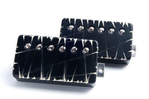 Bare Knuckle Painkiller Calibrated Bridge//Neck Humbucker Pickup Set Raw Nickel